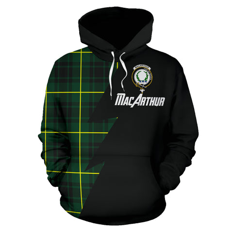 Image of Tartan All Over Hoodie - MacArthur Clans Badge - BN