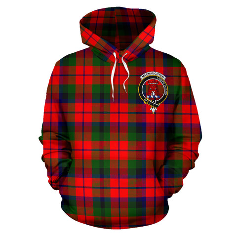 Image of Macnaughton Tartan Clan Badge Hoodie HJ4