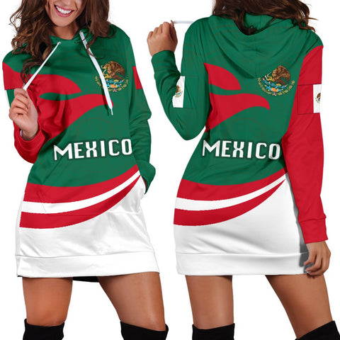 Image of Mexico Women Hoodie Dress Proud Version | 1sttheworld