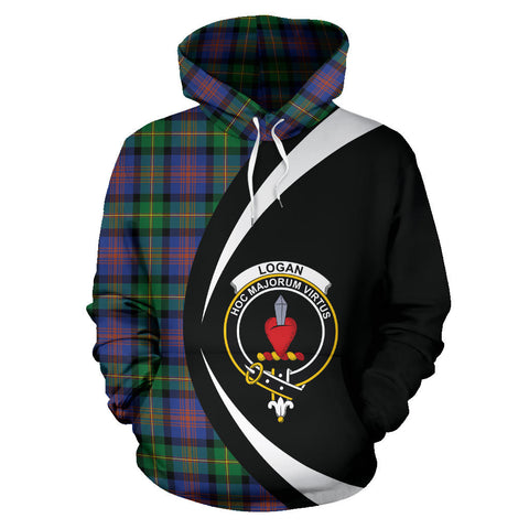 (Custom your text) Logan Ancient Tartan Circle Hoodie