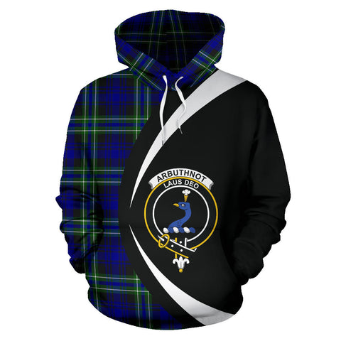Image of (Custom your text) Arbuthnot Modern Tartan Circle Hoodie