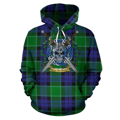 Image of Graham of Menteith Modern Tartan Hoodie Celtic Scottish Warrior A79 | Over 500 Tartans | Clothing | Apaprel