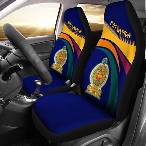 1sttheworld Sri Lanka Lion Coat Of Arms Car Seat Covers