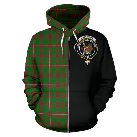 Image of MacKinnon Hunting Modern Tartan Hoodie Half Of Me | 1sttheworld.com