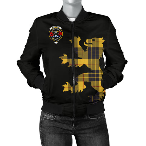 MacLeod Tartan Lion And Thistle Bomber Jacket for Women