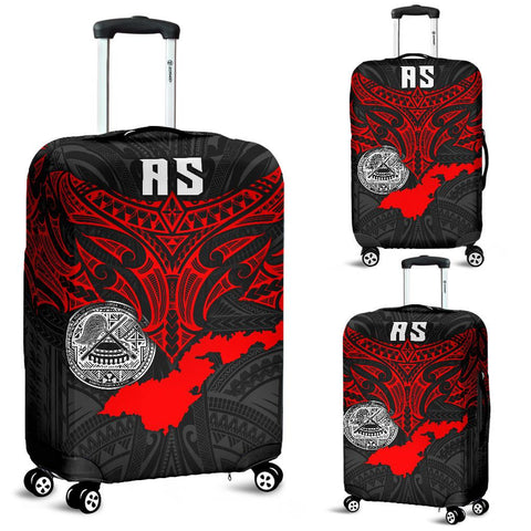 American Samoa Polynesian Luggage Cover - Whale Tail