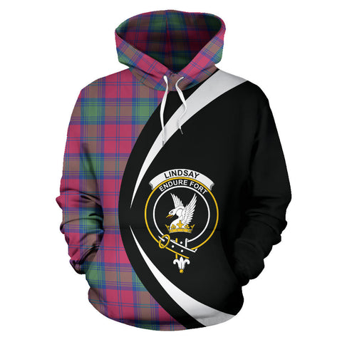 (Custom your text) Lindsay Ancient Tartan Circle Hoodie