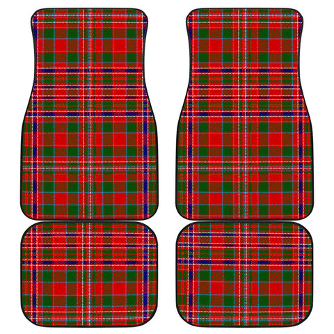 Image of Macalister Modern Tartan Car Floor Mat 4 Pieces K7