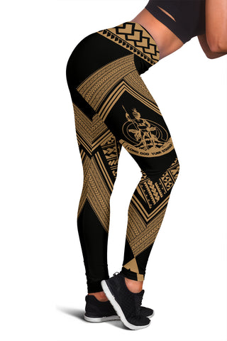 Vanuatu Coat Of Arms Polynesian Leggings - Diamond Style