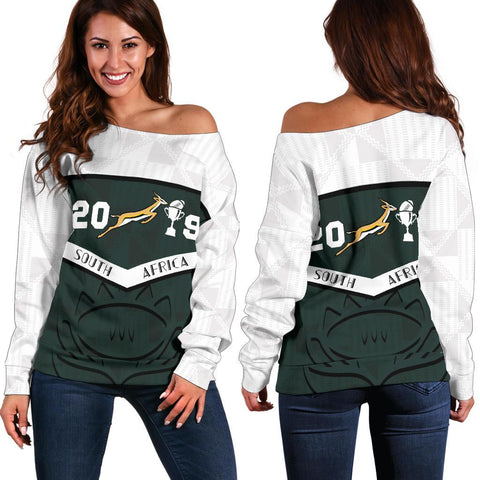 South Africa Springbok Champion 2019 Off Shoulder Sweater