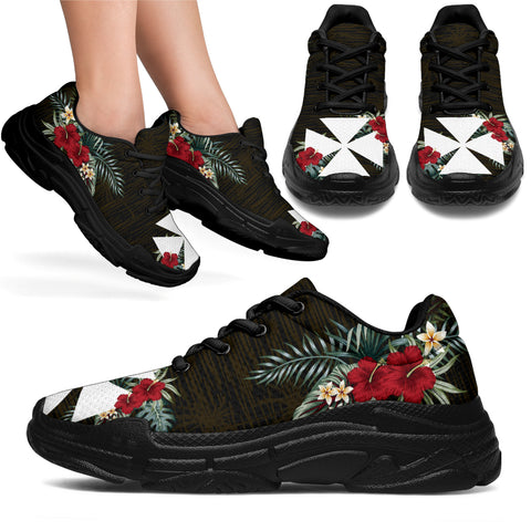 Image of Wallis and Futuna Hibiscus (Men/Women) Chunky Sneakers A7