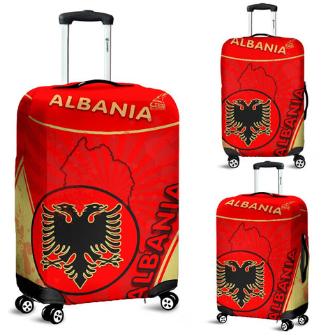 Albania Luggage Covers Circle Stripes Flag Version | 1sttheworld