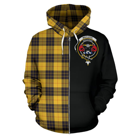 MacLeod of Lewis Ancient Tartan Hoodie Half Of Me | 1sttheworld.com