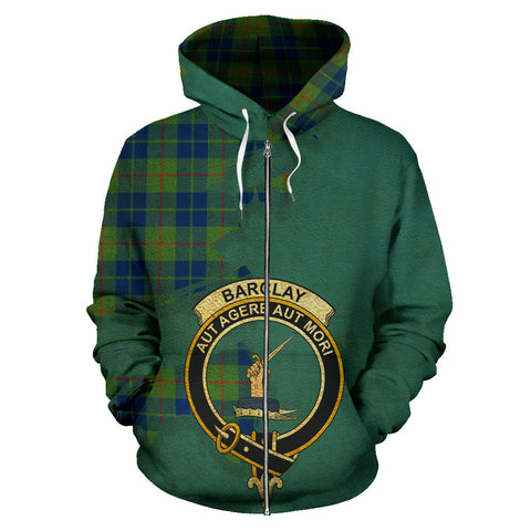 Barclay Hunting Ancient  Royal All Over Hoodie (Zip)