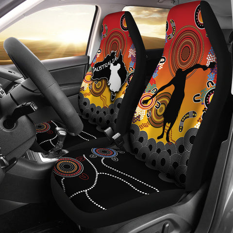 Australia Aboriginal Car Seat Covers With Map TH4