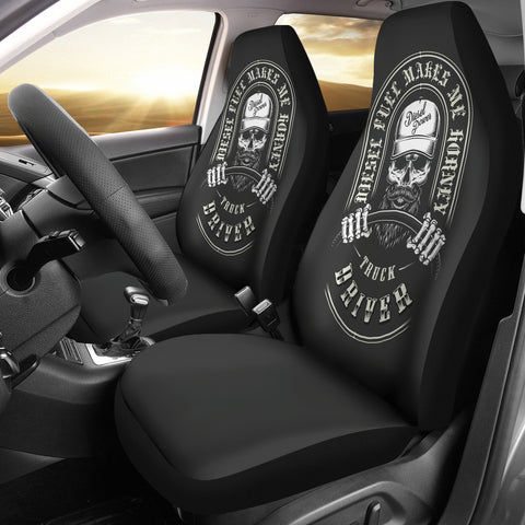 Image of Driving Skull Car Seat Cover - skull car seat covers, car seat covers,seat covers,custom seat covers,custom car seat covers,car decoration,car accessories,car accessories online,cool car accessories, online shopping, trucker seat covers