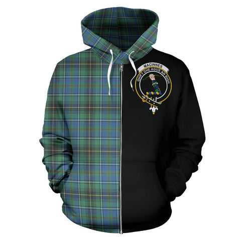 MacInnes Ancient Tartan Hoodie Half Of Me | 1sttheworld.com
