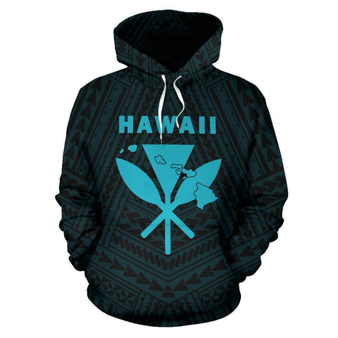Image of Hawaii Kanaka Polynesian Hoodie Blue - AH - J71