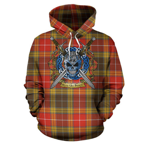 Image of Buchanan Old Set Weathered Tartan Hoodie Celtic Scottish Warrior A79 | Over 500 Tartans | Clothing | Apaprel