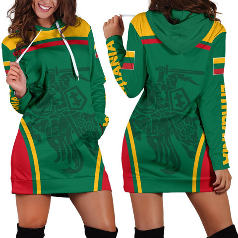 Lithuania Hoodie Dress Active Warrior A15
