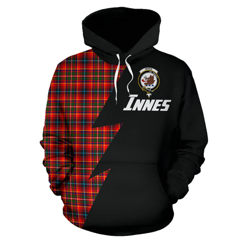 Image of Tartan All Over Hoodie - Innes Clans Badge - BN