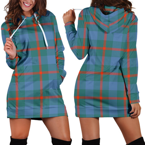 Agnew Ancient Tartan Hoodie Dress HJ4 |Women's Clothing| 1sttheworld