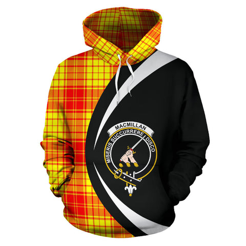(Custom your text) MacMillan Clan Tartan Circle Hoodie