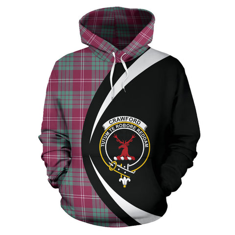 (Custom your text) Crawford Ancient Tartan Circle Hoodie