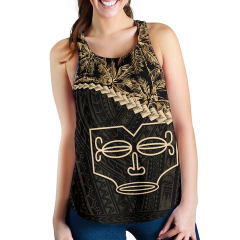 Image of Marquesas Islands Women's Racerback Tank Golden Coconut | Love The World