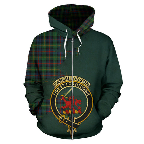 Farquharson Ancient  Royal All Over Hoodie (Zip)