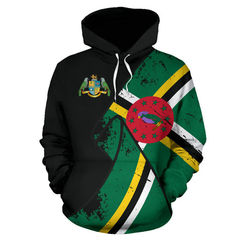 Dominica Special Grunge Flag Pullover Hoodie A5