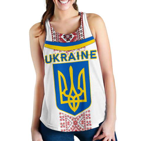 Image of Ukraine Women Racerback Tank - Vibes Version K8