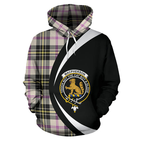 Image of (Custom your text) MacPherson Dress Ancient Tartan Circle Hoodie