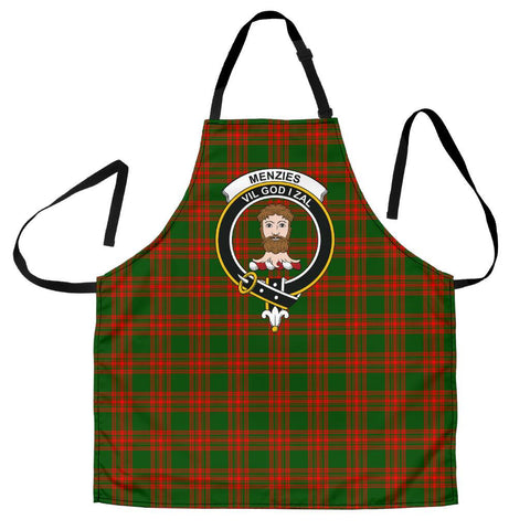 Image of Menzies Green Modern Tartan Clan Crest Apron HJ4
