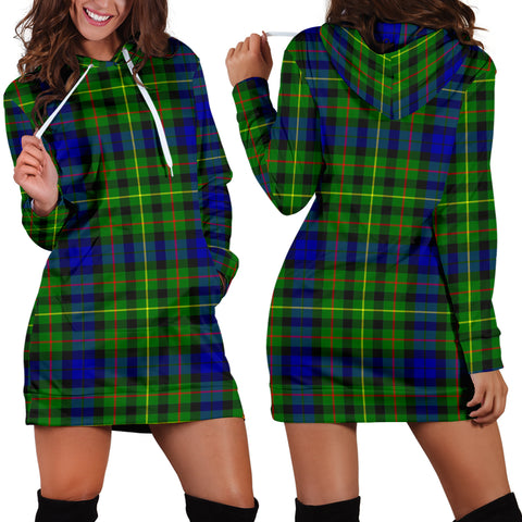 Rollo Modern Tartan Hoodie Dress HJ4 |Women's Clothing| 1sttheworld