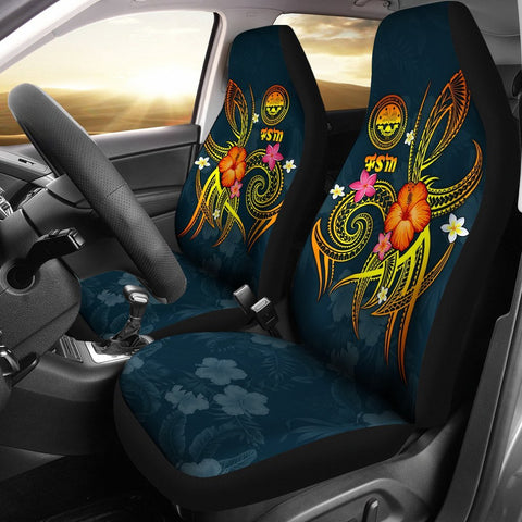 Image of Federated States of Micronesia Polynesian Car Seat Covers - Legend of FSM (Blue)