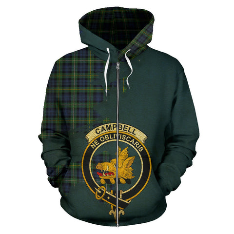 Image of Campbell Argyll Ancient  Royal All Over Hoodie (Zip)