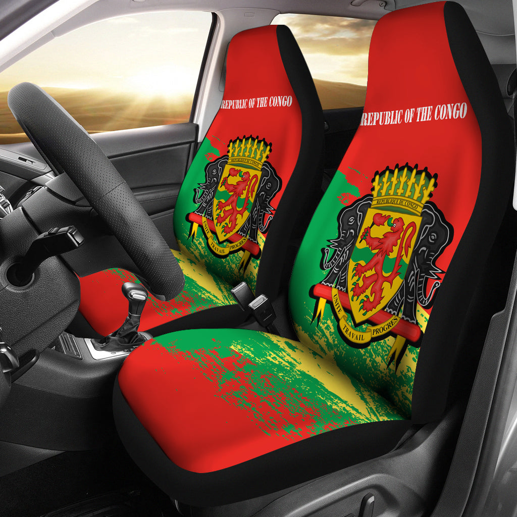 Republic of the Congo Car Seat Covers | High Quality Printing