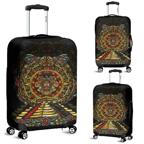 Mexico Luggage Covers Aztec Sun Stone Tattoo A7
