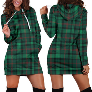 Ross Hunting Modern Tartan Hoodie Dress HJ4
