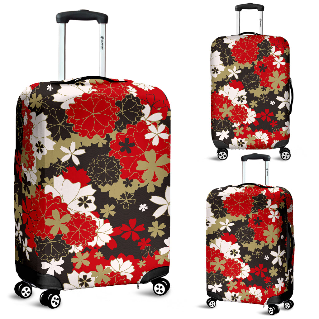Japan Floral Pattern Luggage Cover 01 - Bn03 | Love The World