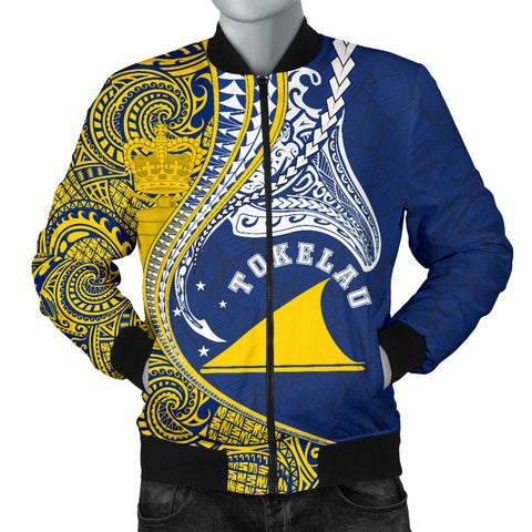Image of Tokelau Men's Bomber Jacket Manta Polynesian