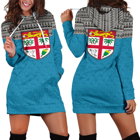 Image of hoodie dress, fiji, coat of arm, women
