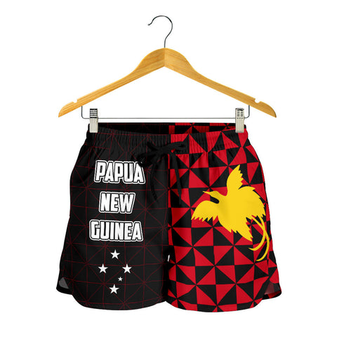 Image of Papua New Guinea Polynesian All Over Print Women's Shorts Coat Of Arms