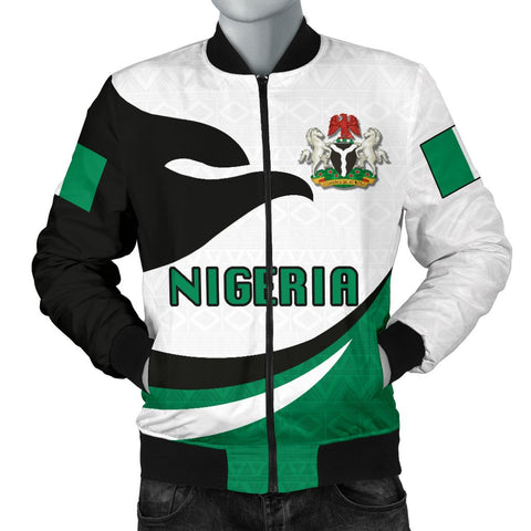 Nigeria Men Bomber Jacket Proud Version Front | 1sttheworld