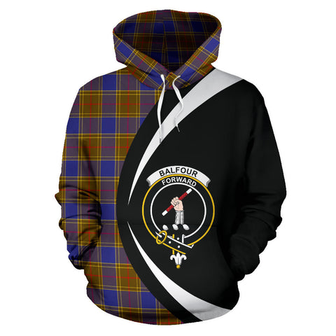 Image of (Custom your text) Balfour Modern Tartan Circle Hoodie