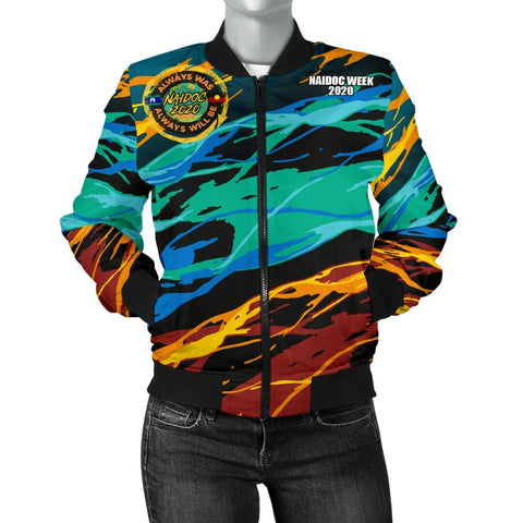 Australia Women's Bomber Jacket - Naidoc Always Was, Always Will Be - BN17