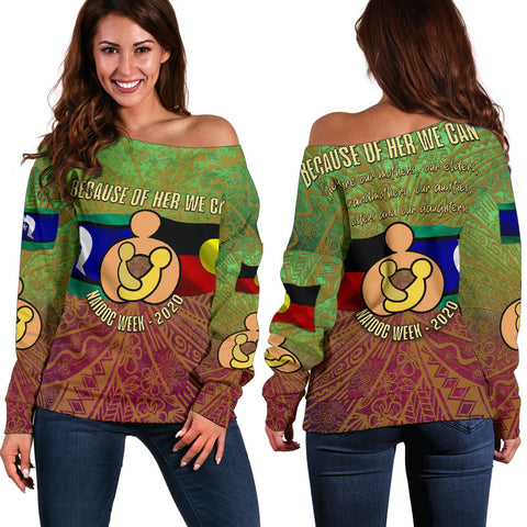 Naidoc Week 2020 Off Shoulder Sweater K4