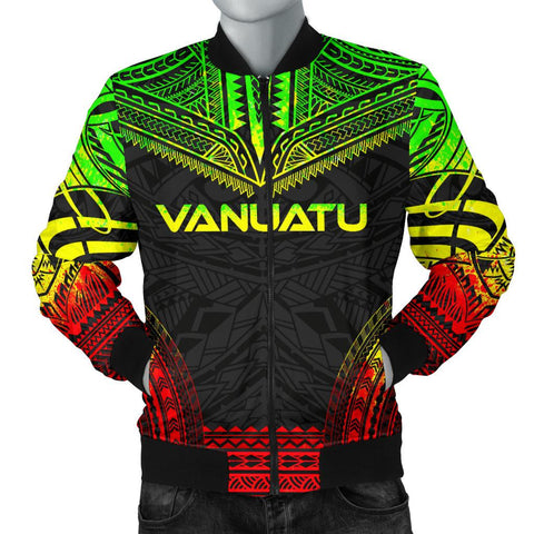Image of Vanuatu Polynesian Chief Men's Bomber Jacket - Reggae Version