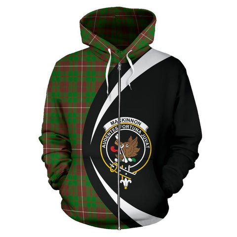 MacKinnon Hunting Modern Tartan Circle Zip Hoodie